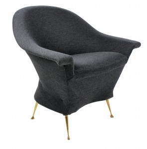 An Italian sculptural armchair
