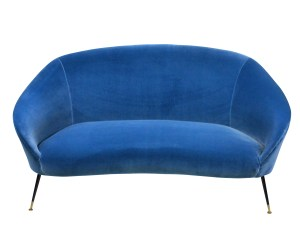 AN ITALIAN CURVED SOFA