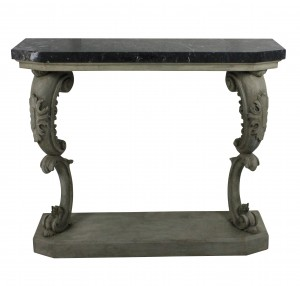 A French Carved & Painted Marble Top Console
