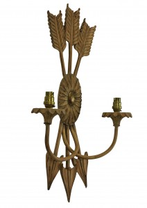 French carved wood sconces