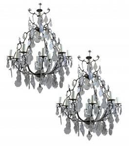 French cage chandeliers
