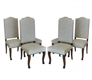 Six High Back Dining Chairs