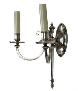 French Silver Sconces