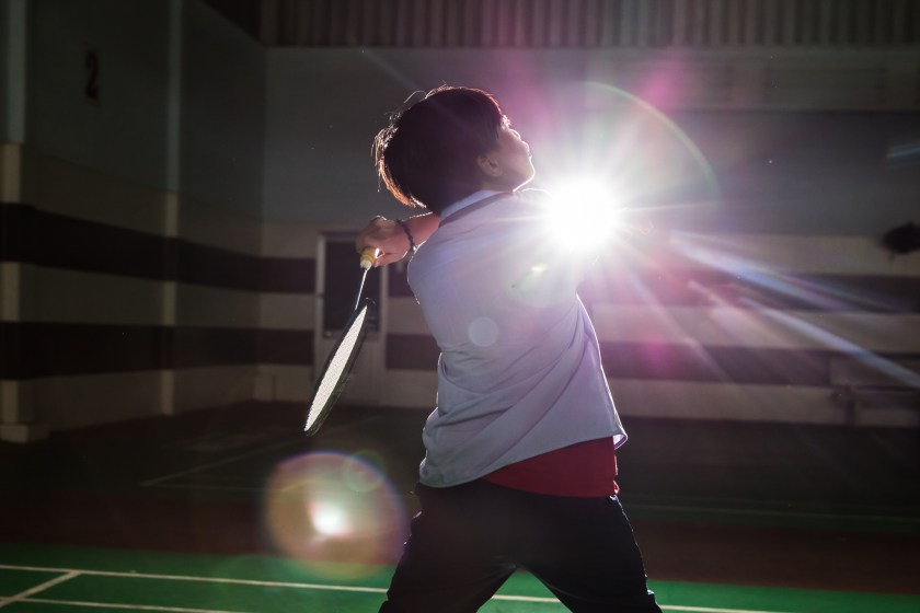 Ho Chi Minh City, Vietnam -- August 19,2015 -- 12 Year old Ngoc Sang, a student at the Christina Noble Children's foundation, winds up for a return volley to his coach. (Ehrin Macksey / The National)