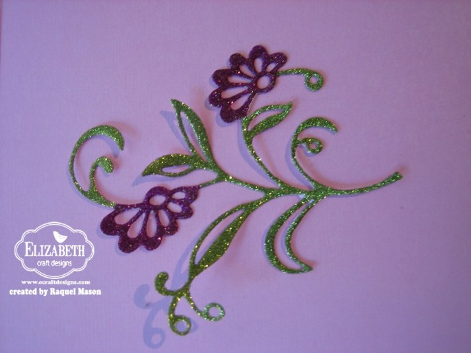 ECD Glitter Inlay flower glitter step 2