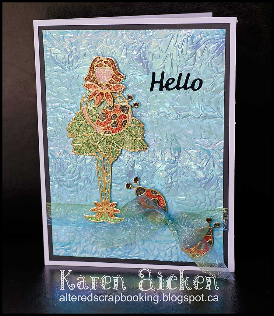 Flower Cutie Hello Card _ 1