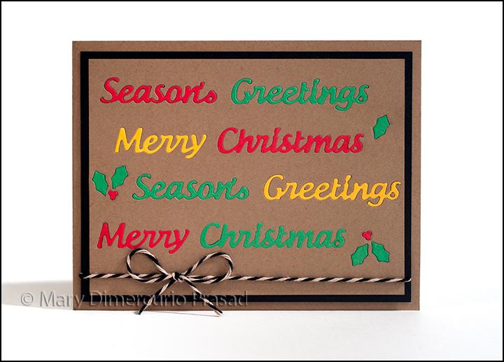 Christmas Inlay Card