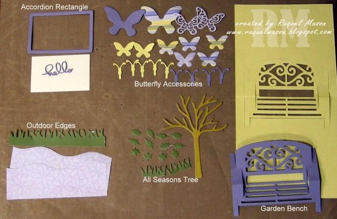 KB ECD Butterfly Garden Bench pieces