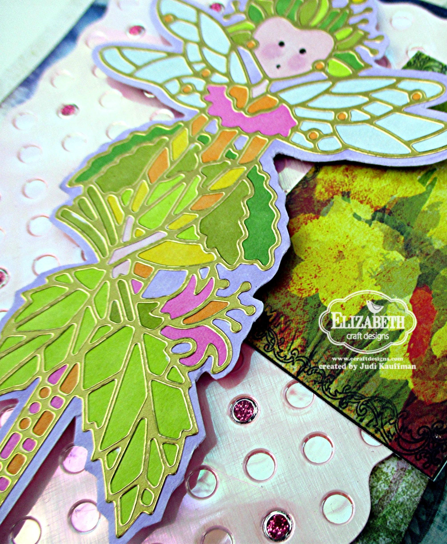 Curvy Leaves Embossing Folder Elizabeth Crafts Stencil Folders Vines USED