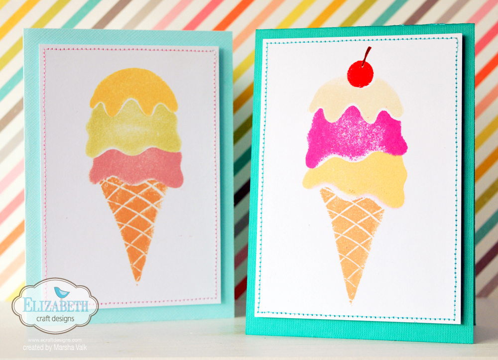 Marsha Valk | Elizabeth Craft Designs: DIY Ice Cream Cone Foam Stamps