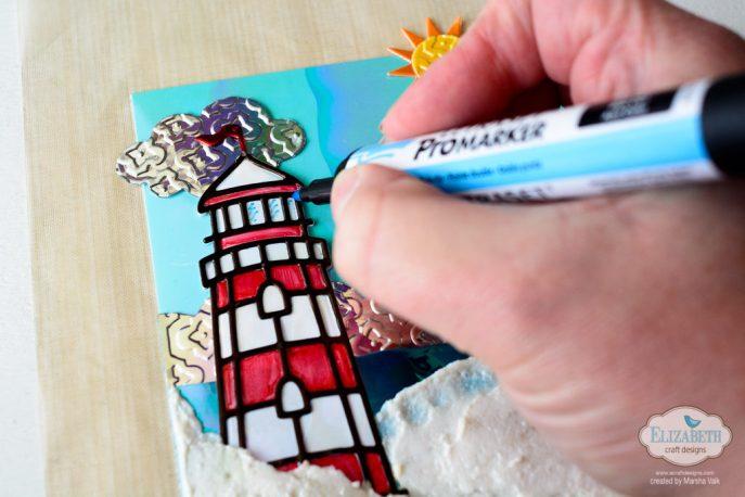 Marsha Valk | Elizabeth Craft Designs: Meet Me At The Lighthouse Card