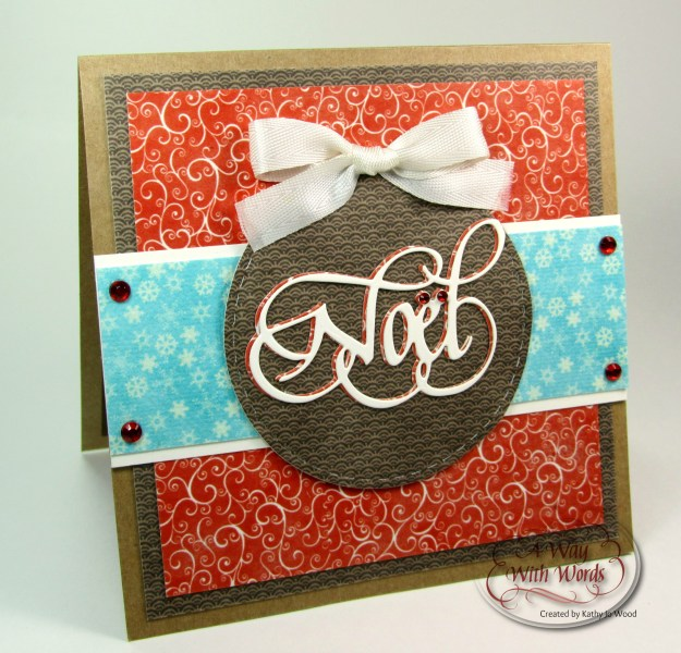 Elizabeth Craft Designs Suzanne Cannon Noel Christmas card Kathy Jo 1