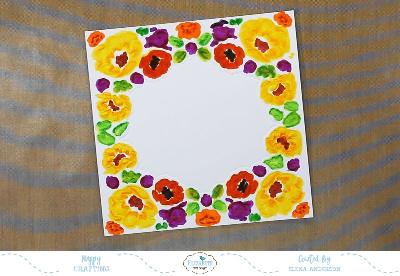 Fall Flower Lace Frame - Step 1