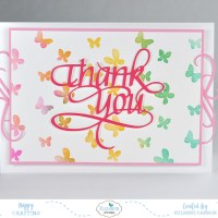 Thank You Butterflies Card