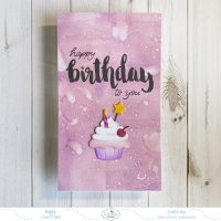 Mini Slimline Happy Birthday To You Card