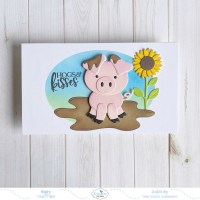 Hogs And Kisses Mini Slimline Card