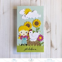 Just Chicken In Mini Slimline Card