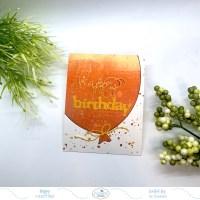 Gel Print Birthday Card