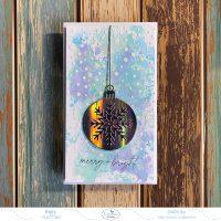 Merry And Bright Mini Slimline Card