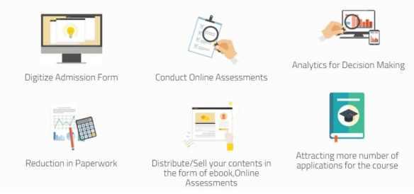ePravesh Services for Online Admissions, Online Assessments, Digital content distribution , academic eBooks