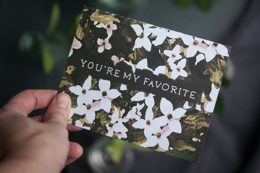 You are my favorite greeting card by Gather Goods Co