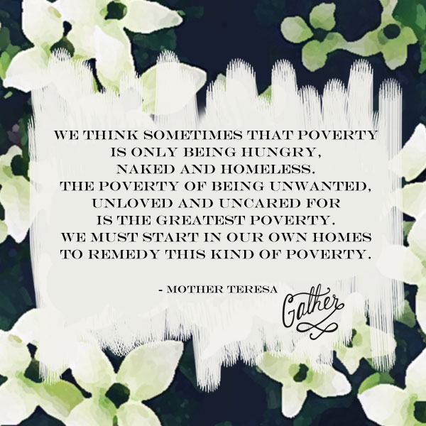 Mother Theresa Quote on Poverty