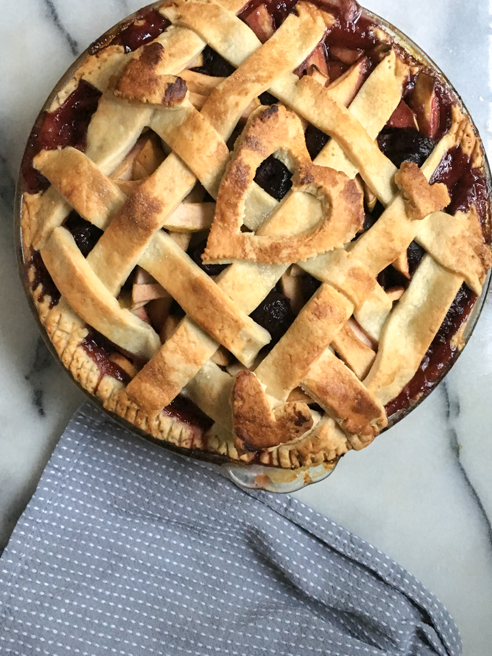 Apple-Double Cherry Pie Recipe | Gather Goods by Michelle Smith