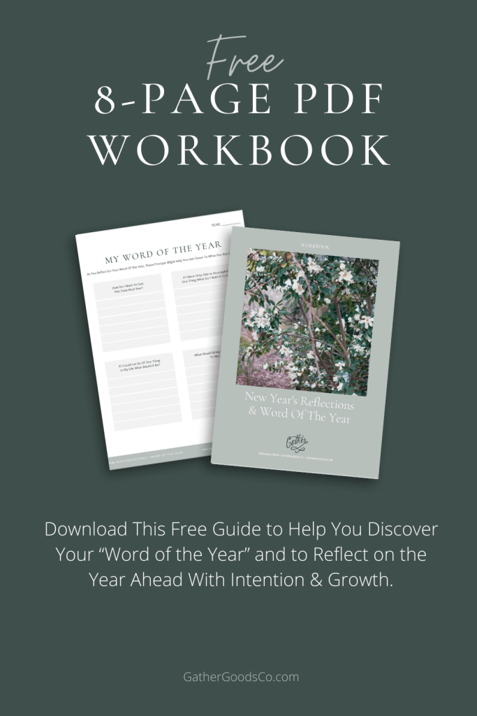 Free 8-Page PDF Workbook - Word of the Year & New Year's Goal Setting