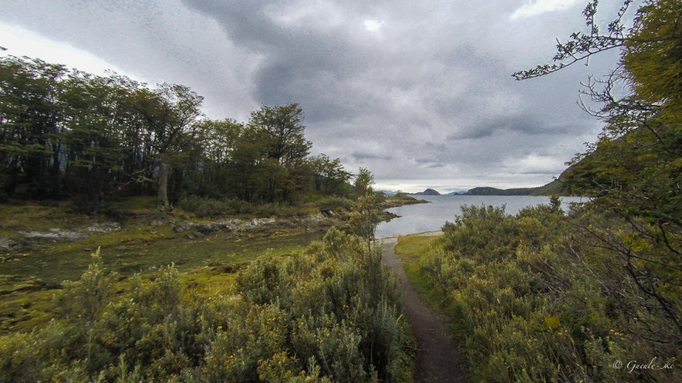Bahia Lapataia : Senda baliza