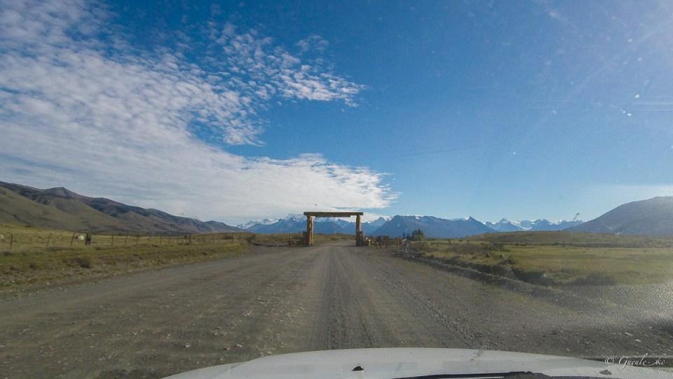 Entrée du. Parc National des glaciers sur la RP15