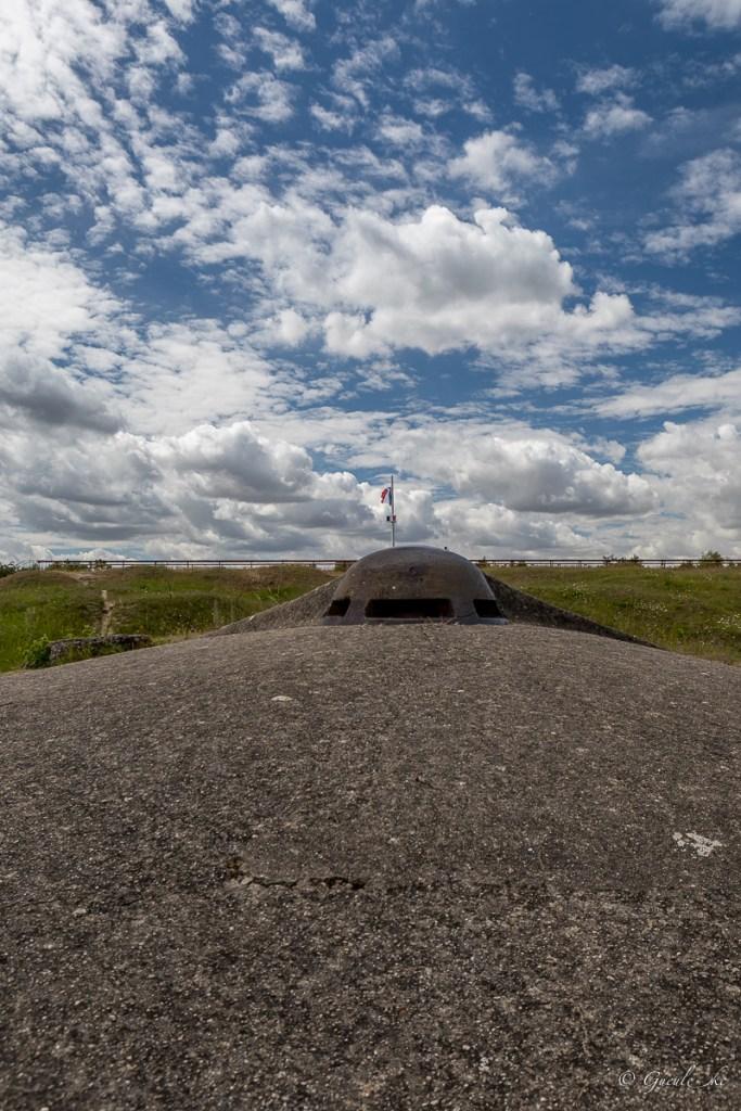 Fort de Vaux - Le dessus du fort