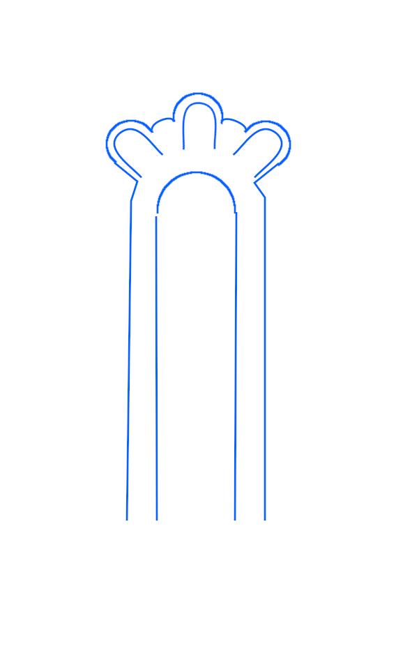 Schéma simple de l'église basse