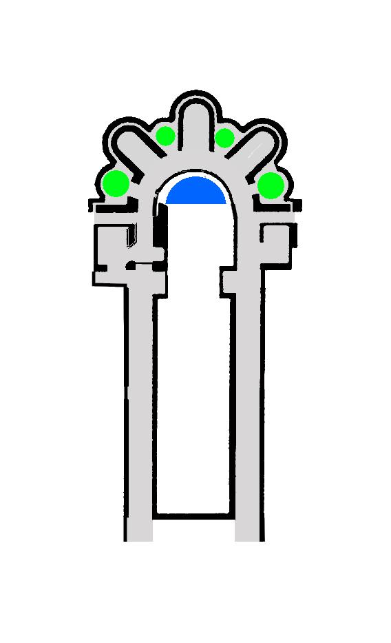 Ajout des chapelles gothiques après 1194