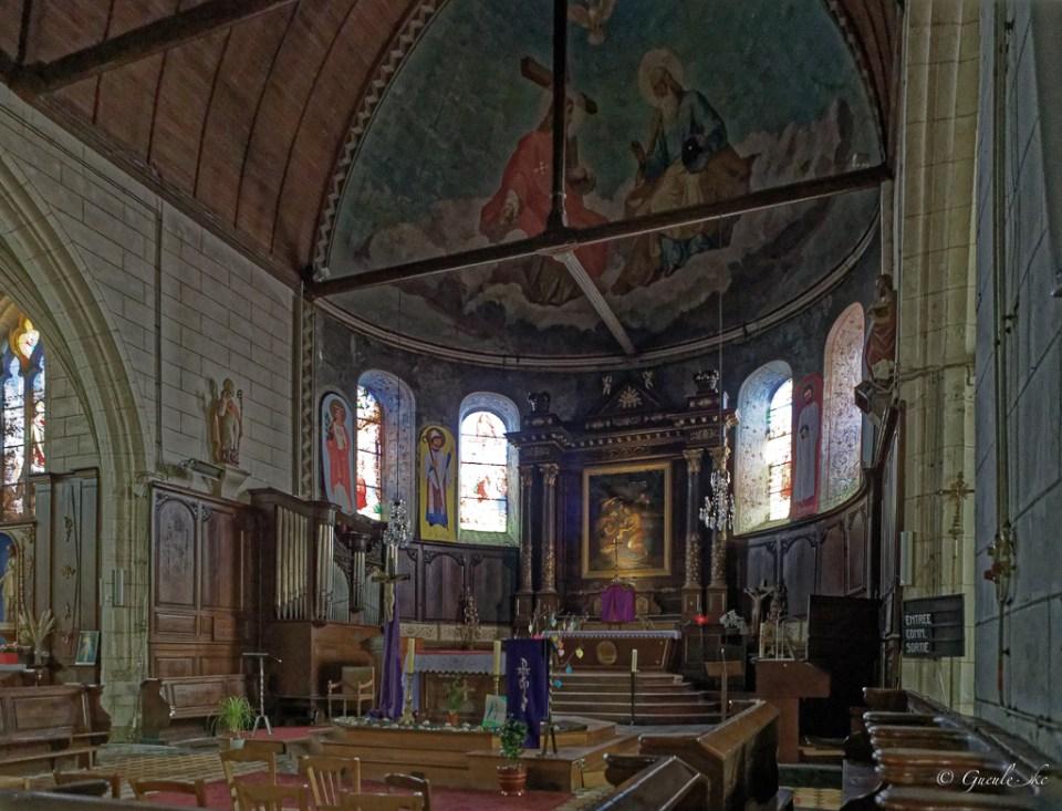 Chœur, Eglise Saint-Lubin, Brou