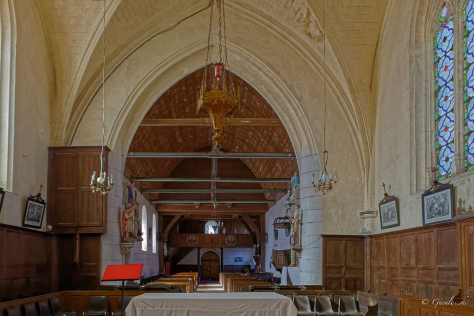 Eglise Saint-Pierre, Coudray-au-Perche, Centre-Val de Loire, France