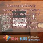 Startup focus
