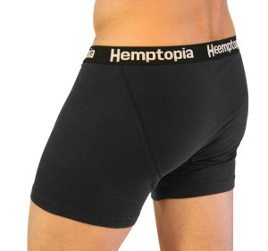 Black-mens hemp boxer briefs