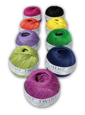 Hemp twine Mulitcolored
