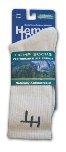 Natural hemp sock - front