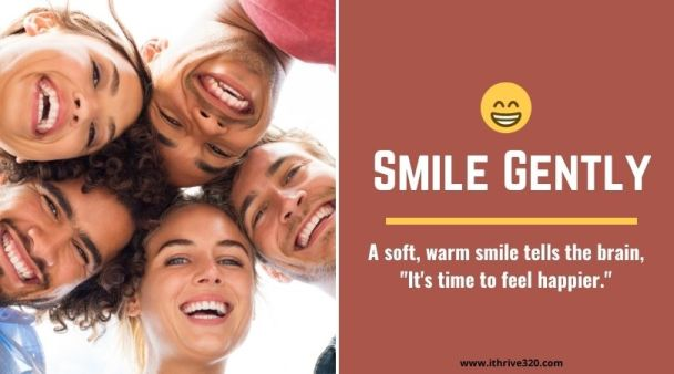 Stress management skill, smile gently