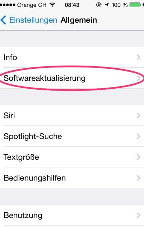 Softwareaktualisierung