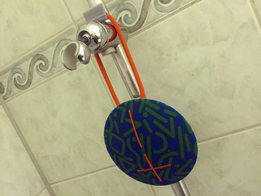 In der Dusche macht die UE-Roll eine gute Falle