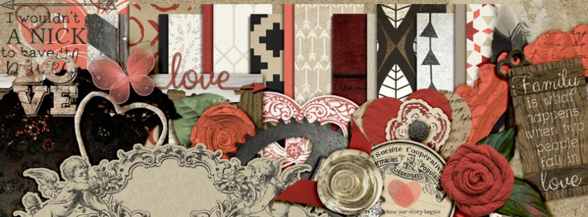 Rustic Love mini kit freebie by KM Ink