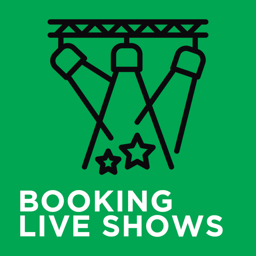 HOW TO BOOK LIVE SHOWS