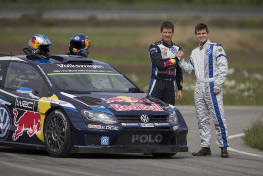 Magnus Carlsen, Sébastien Ogier (F) Volkswagen Polo-R WRC
