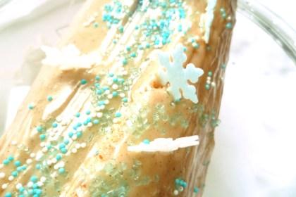 Recette de Noël, roulé au chocolat enneigé !