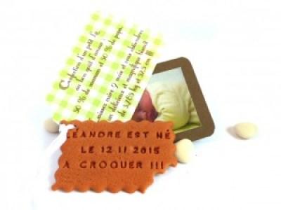 faire-part naissance biscuit personnalisé original