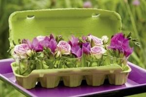 8 Decoration Table Paques Boite Oeufs Radis Rose