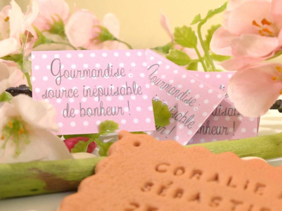 cadeau invité mariage biscuit aimanté