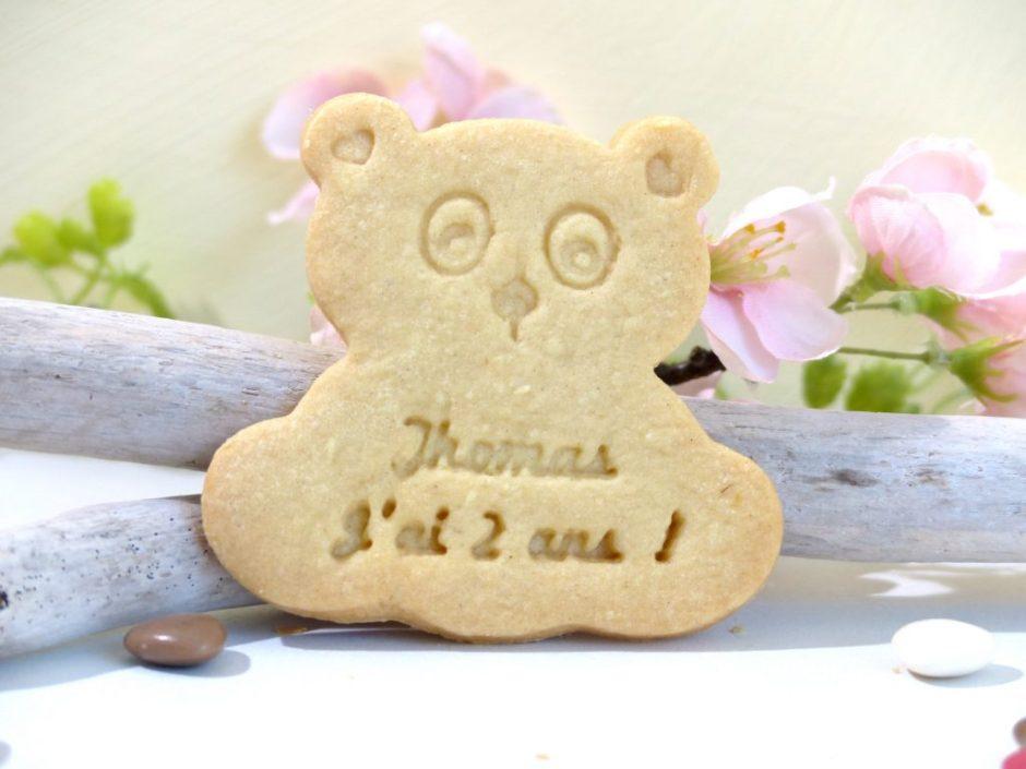 lot 10 biscuit sablé ourson